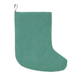 Snugglyのヒスイ緑のティール(緑がかった色)のスエードの質の一見 ラージクリスマスストッキング