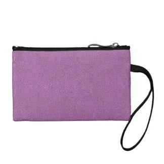 Snugglyのフランスのな薄紫のラベンダーのスエードの一見 コインパース