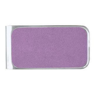 Snugglyのフランスのな薄紫のラベンダーのスエードの一見 シルバー マネークリップ