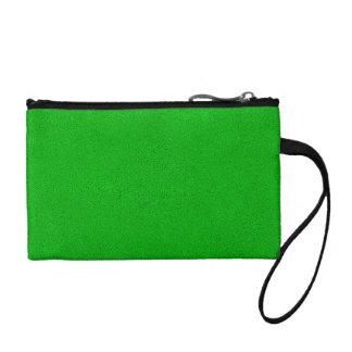 Snugglyの明るいネオン緑のスエードの一見 コインパース