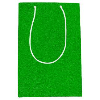 Snugglyの明るいネオン緑のスエードの一見 ミディアムペーパーバッグ