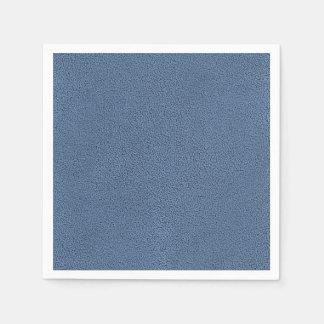 Snugglyの石板の青いスエードの質の一見 スタンダードカクテルナプキン