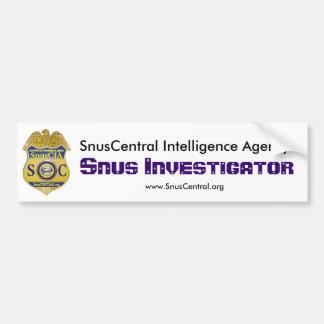 Snusの調査官 バンパーステッカー