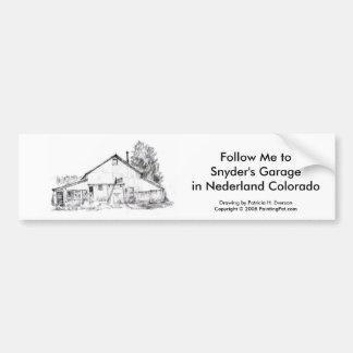 Snyderのガレージ、Bumberのステッカー バンパーステッカー