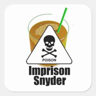 Snyderを投獄して下さい スクエアシール