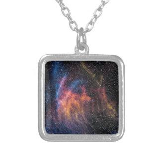 Soaceの星雲 シルバープレートネックレス