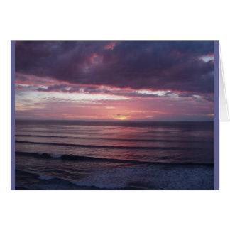 SoCalの冬の日没 カード