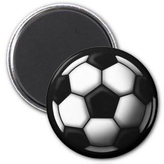 soccer ball 2 冷蔵庫マグネット