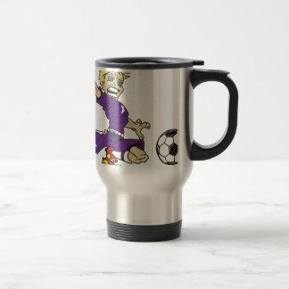 SOCCERBOYの紫色のブロンドの女性 トラベルマグ