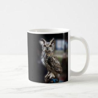 Socratesの引用文のワシミミズク コーヒーマグカップ