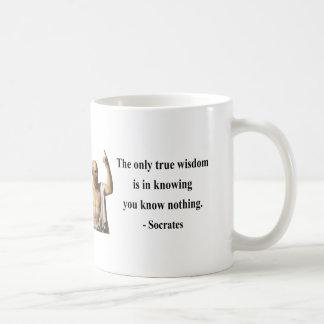 Socratesの引用文3b コーヒーマグカップ