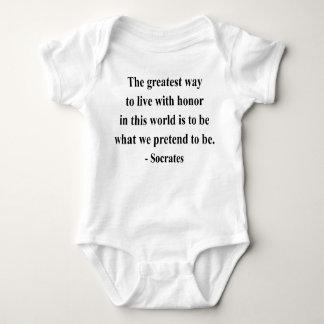 Socratesの引用文4a ベビーボディスーツ