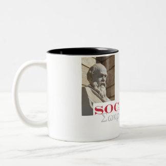 Socratesは私の英雄です ツートーンマグカップ