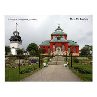 Söderhamn、スウェーデン、Phoの教会… ポストカード