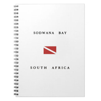 Sodwana湾の南アフリカ共和国のスキューバ飛び込みの旗 ノートブック