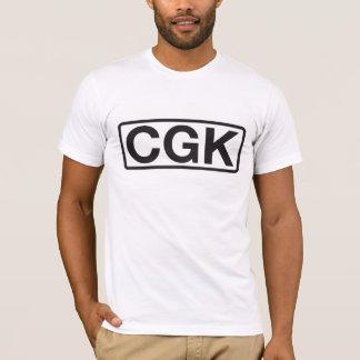 Soekarno-Hattaジャカルタの国際空港コード Tシャツ