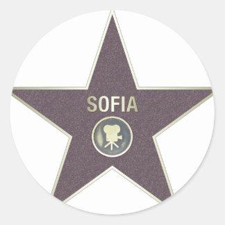 SOFIA-MOVIE-STAR ラウンドシール