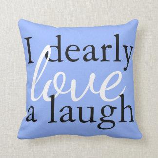 Soft Blue Jane Austen Quote Pillow Pride Prejudice クッション