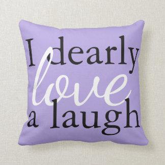 Soft Lavender Purple Pillow Jane Austen Book Quote クッション