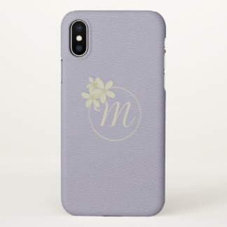 Soft Lilac Faux Leather Effect iPhone X ケース