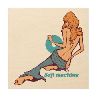 Soft machine ウッドウォールアート