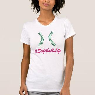 #SoftballLifeの女性のTシャツ Tシャツ
