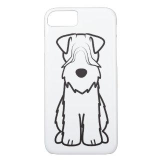Softcoated Wheatenテリア犬の漫画 iPhone 8/7ケース