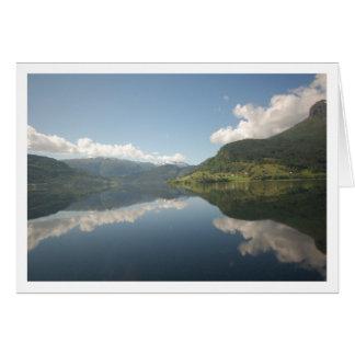 Sognefjordのフィヨルド カード