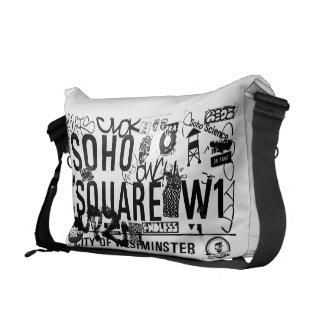 Sohoの正方形のメッセンジャーバッグ クーリエバッグ