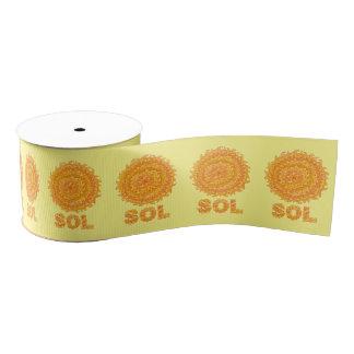 SOL日曜日の宇宙のギークの黄色およびオレンジ星 グログランリボン