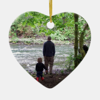SOL Ducの川を点検すること 陶器製ハート型オーナメント