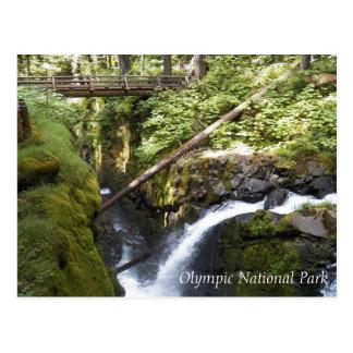 SOL Ducの滝、オリンピック国立公園旅行 ポストカード