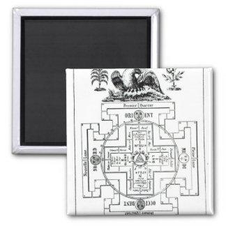 Solomonの神秘的な図表 マグネット