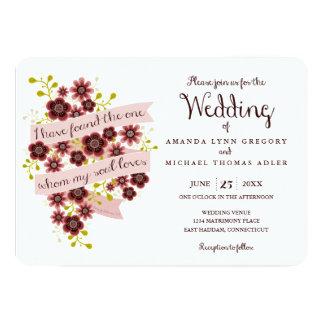 Solomonの結婚式招待状のロマンチックな花の歌 カード