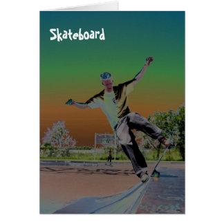 Solorizedのスケートボーダー グリーティングカード
