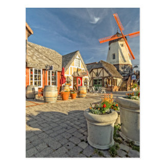 Solvangの風車の眺め ポストカード