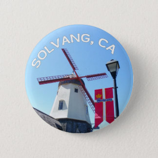 Solvang美しいボタン! 5.7cm 丸型バッジ