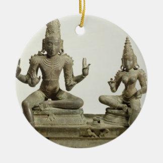 Somaskanda、Chola、タミル・ナードゥ州(青銅) セラミックオーナメント