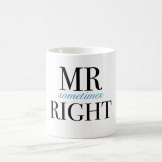 Sometimes Right Classic White氏のマグ コーヒーマグカップ