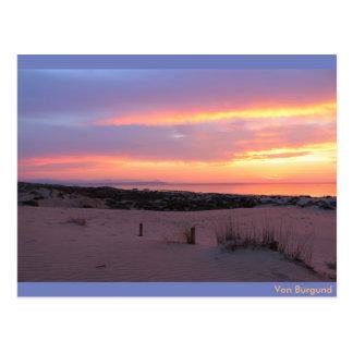 Sonnenaufgang am Stand von Guardamar, Spanien ポストカード