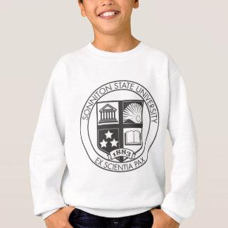 Sonnitonの州立大学のシール- B&W スウェットシャツ