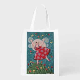 Soozie Wray著かわいく、カラフルな春の妖精のバッグ エコバッグ