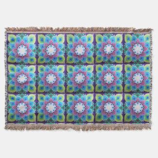 Soozie Wray著素晴らしい曼荼羅のデザイン毛布 スローブランケット