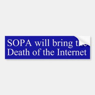 SOPA =インターネットの死 バンパーステッカー