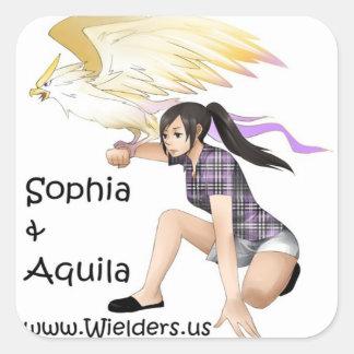 Sophiaそしてアクイラ- Wieldersの本シリーズからの… スクエアシール