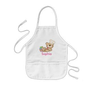 Sophiaの名前入りなエプロン 子供用エプロン
