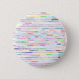 Sophiaの文字デザインなII円形ボタン 5.7cm 丸型バッジ