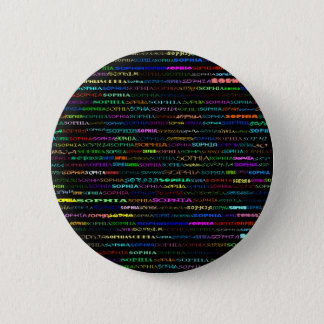 Sophia文字デザインなIの円形ボタン 5.7cm 丸型バッジ