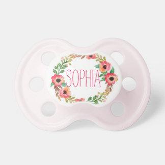 """""""Sophia""""のシンプルで及びエレガントで名前入りな名前 おしゃぶり"""