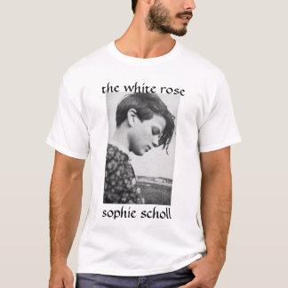 SophieSchollの白いバラ、ゾフィー・ショル Tシャツ